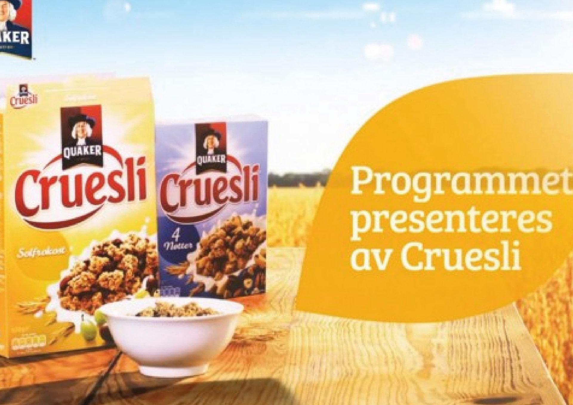 Cruesli TV sponsorat